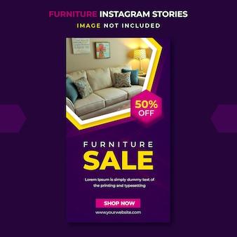 Szablon historii instagram sprzedaży mebli