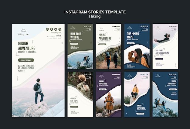 Szablon historii instagram wędrówki