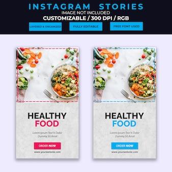 Szablon historii instagram żywności