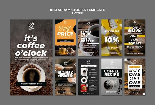 Szablon historii kawy instagram
