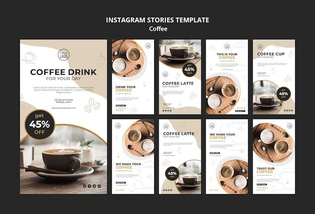 Szablon historii kawy na instagramie
