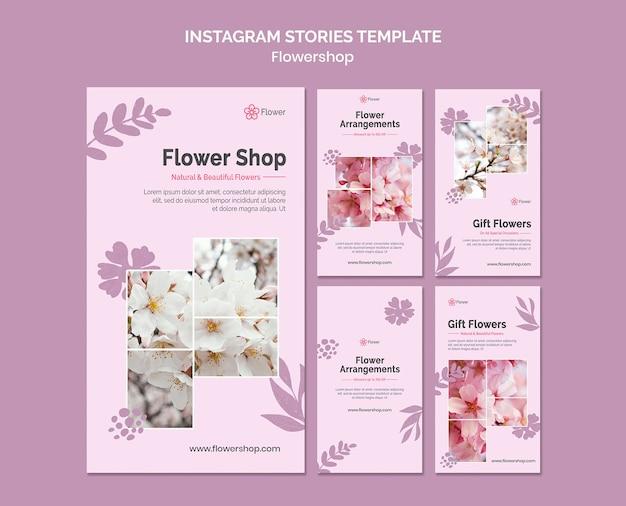 Szablon historii kwiaciarni na instagramie