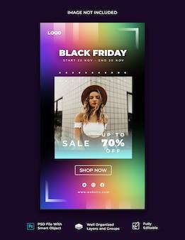 Szablon historii na instagram w czarny piątek