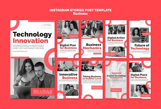 Szablon Historii Na Instagramie Innowacji Biznesowych Premium Psd