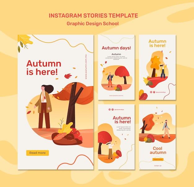 Szablon historii na instagramie jesień koncepcja