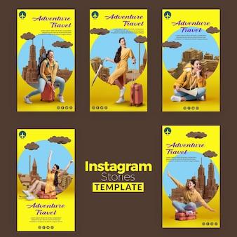 Szablon historii na instagramie podróży