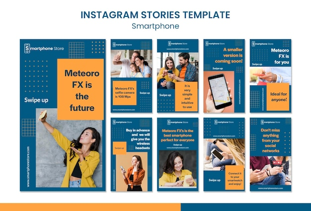 Szablon historii na instagramie sklepu smarphone