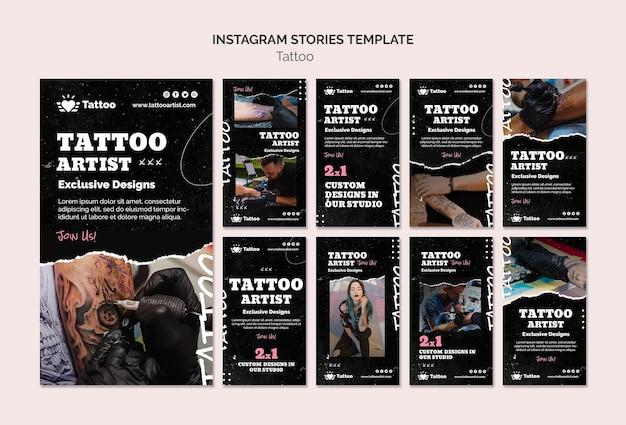 Szablon historii na instagramie tatuażysty