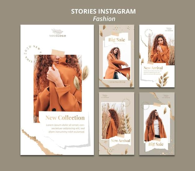 Szablon historii na instagramie w sklepie mody