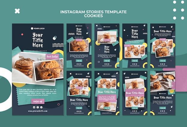 Szablon historii na instagramie w sklepie z ciasteczkami