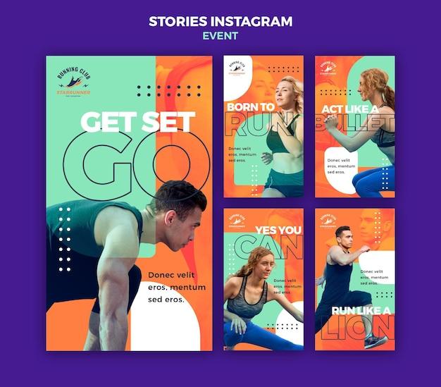 Szablon historii na instagramie wydarzenie sportowe