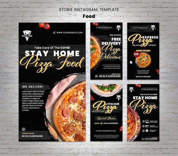 Szablon historii pysznej pizzy na instagramie