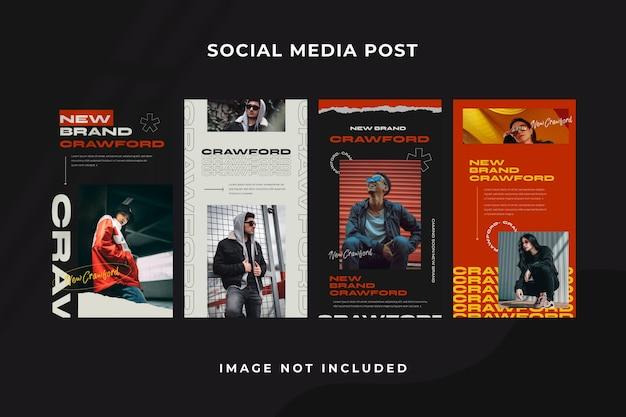 Szablon instagram historii mediów społecznościowych