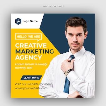 Szablon instagram promocja marketingu korporacyjnego i cyfrowego biznesu