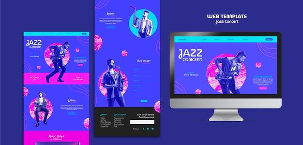 Szablon internetowy koncertu jazzowego
