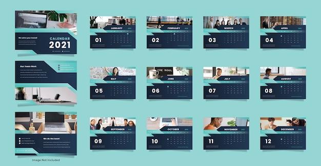 Szablon kalendarza biurkowego agencji kreatywnej