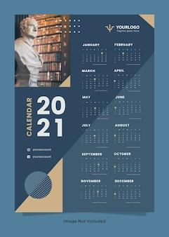 Szablon kalendarza ściennego firmy prawniczej