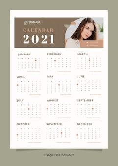 Szablon kalendarza ściennego mody