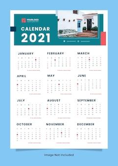 Szablon kalendarza ściennego nieruchomości