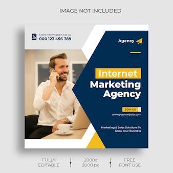 Szablon kanału postu na instagramie marketingu cyfrowego