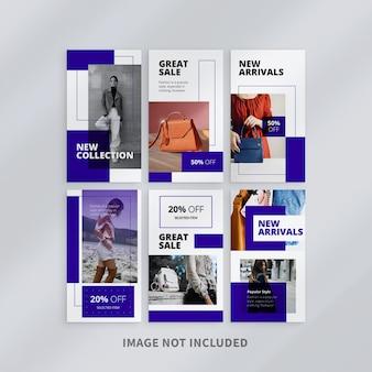 Szablon Kolekcji Instagram Stories Sprzedaży Mody Premium Psd