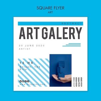 Szablon koncepcji kwadratowych ulotki sztuki