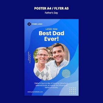 Szablon koncepcji plakat dzień ojca