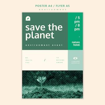 Szablon koncepcji plakat środowiska