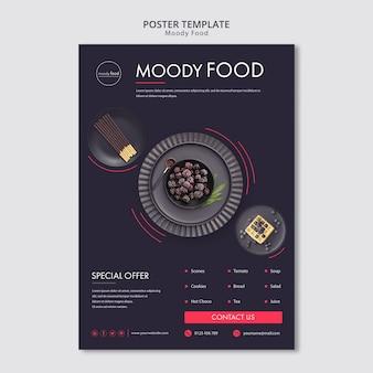 Szablon kreatywny plakat nastrojowe jedzenie