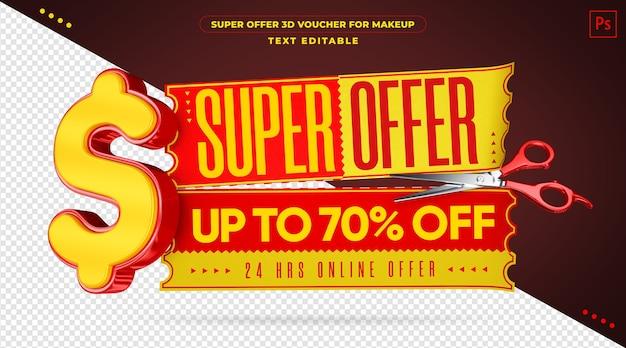 Szablon kuponu 3d super oferty