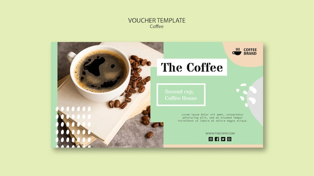 Szablon kuponu kawy