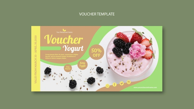 Szablon kuponu pyszne jogurt