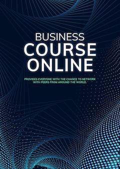 Szablon kursu biznesowego online połączenie sieciowe psd