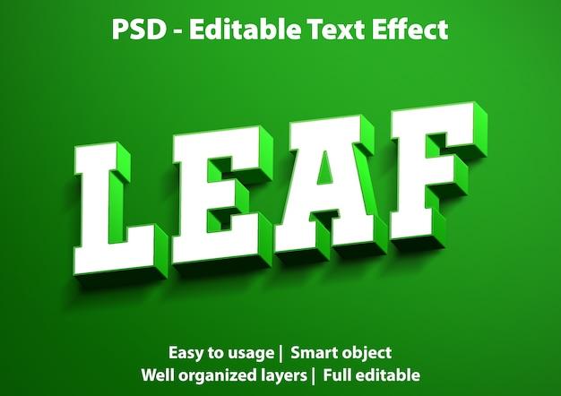 Szablon liścia efektu tekstowego