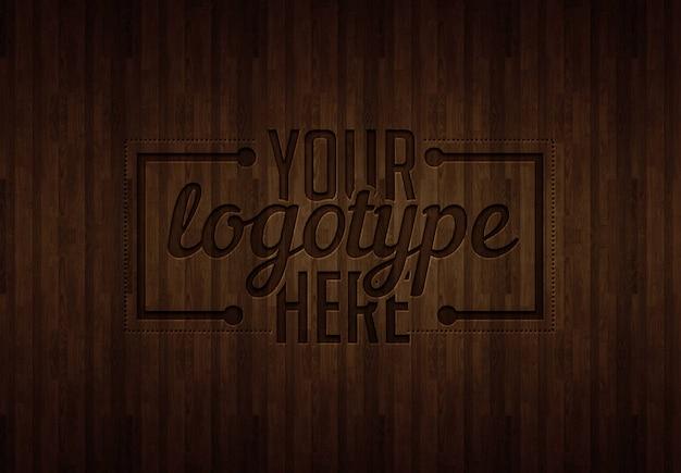 Szablon logo na drewno