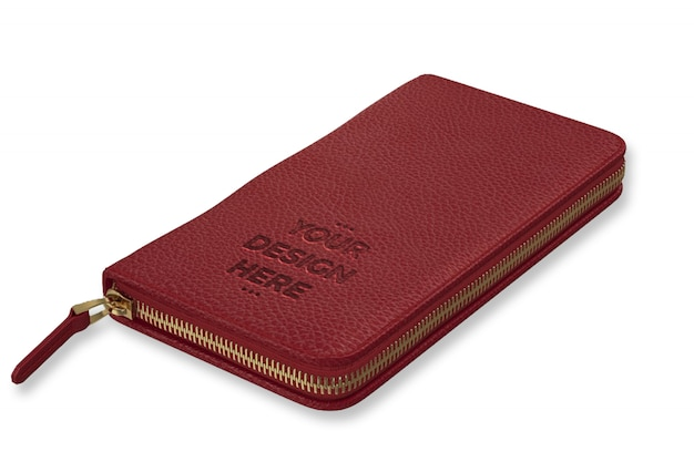 Szablon makieta czerwony portfel