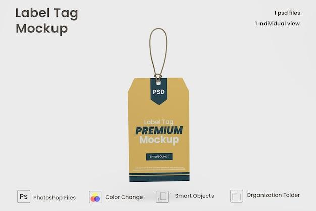 Szablon makieta etykiety ubrania premium psd