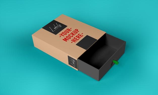 Szablon makieta pudełko papierowe