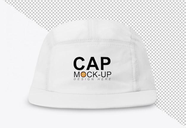 Szablon makiety białej czapki z daszkiem do projektowania