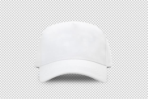 Szablon makiety białej czapki z daszkiem