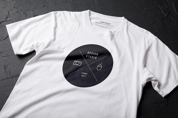 Szablon makiety biały t-shirt