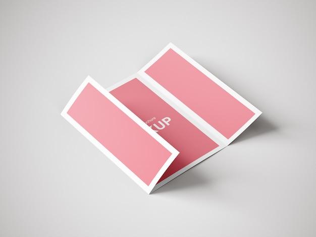 Szablon makiety broszury składanej pojedynczo lub potrójnie