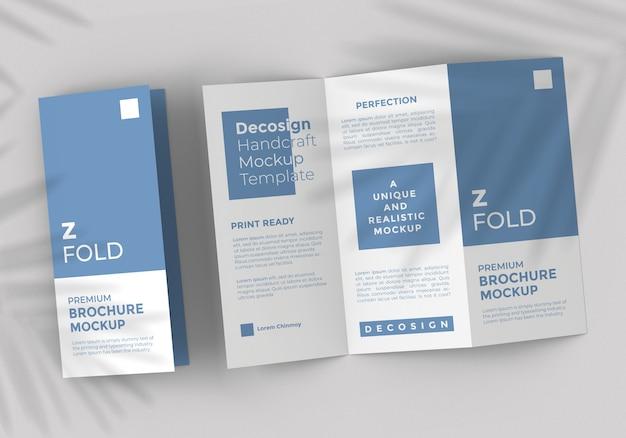 Szablon makiety broszury z fold