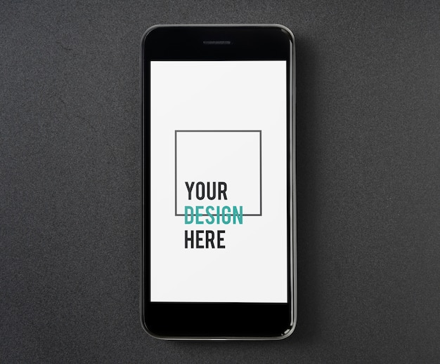 Szablon makiety ekranu telefonu komórkowego premium