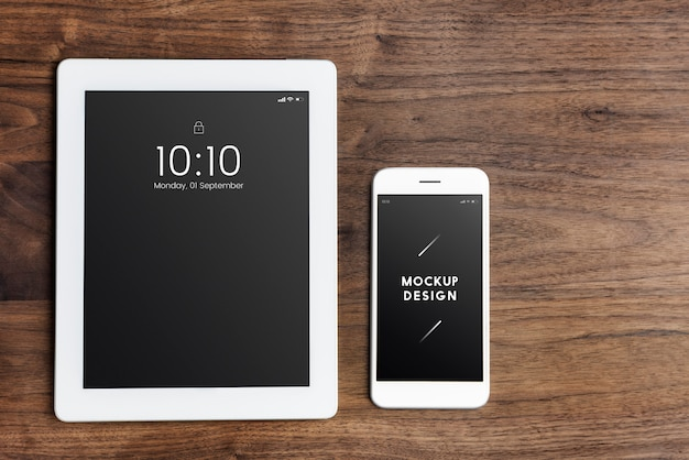 Szablon makiety ekranu urządzeń cyfrowych