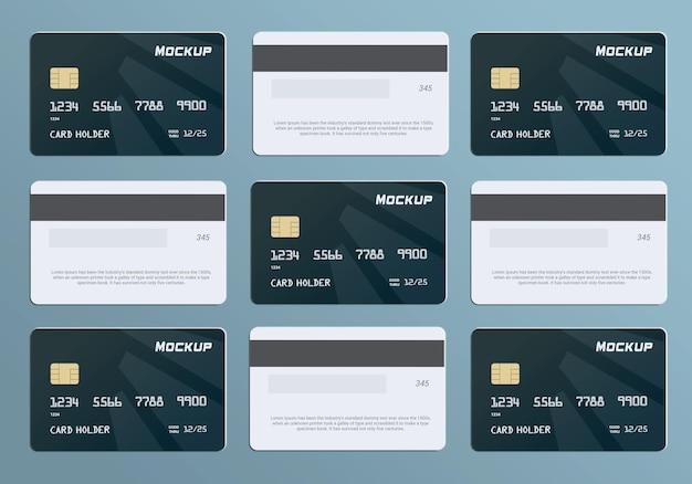 Szablon makiety karty debetowej karty inteligentnej