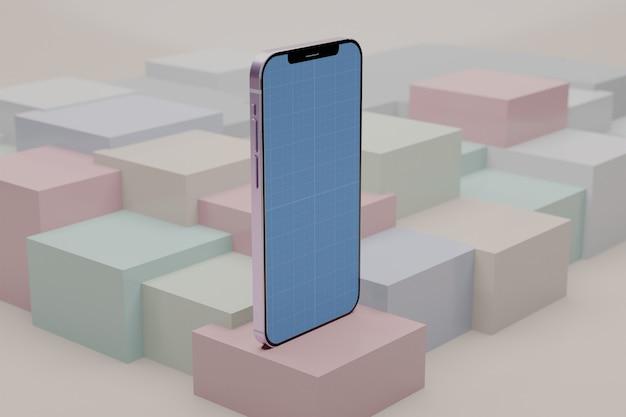 Szablon makiety kostki smartfona