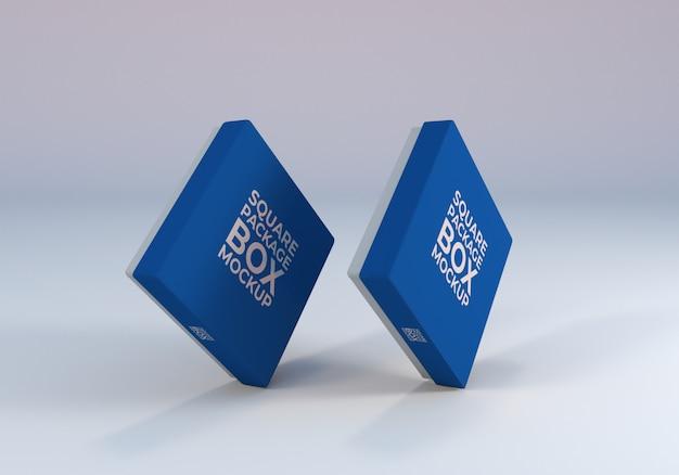 Szablon makiety kwadratowe pudełko