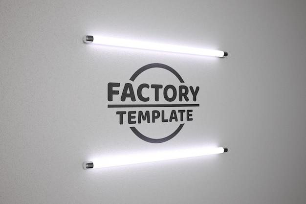Szablon makiety lampy fluorescencyjnej