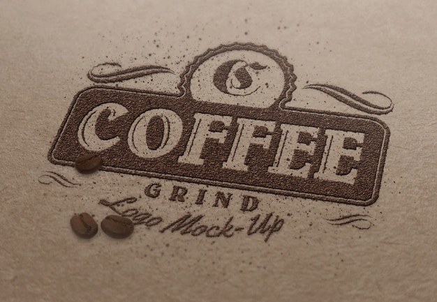 Szablon makiety logo lub tekstu - cofffee